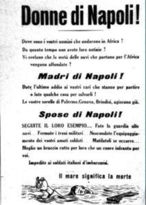 Volantino rivolto alle donne di Napoli